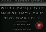Image of masques Telfs Austria, 1930, second 5 stock footage video 65675035095