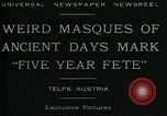 Image of masques Telfs Austria, 1930, second 6 stock footage video 65675035095