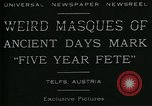Image of masques Telfs Austria, 1930, second 9 stock footage video 65675035095
