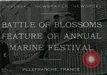 Image of Sea Battle of Flowers Villefranche France, 1930, second 1 stock footage video 65675035097