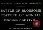 Image of Sea Battle of Flowers Villefranche France, 1930, second 2 stock footage video 65675035097
