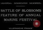 Image of Sea Battle of Flowers Villefranche France, 1930, second 5 stock footage video 65675035097