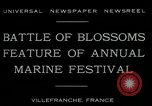 Image of Sea Battle of Flowers Villefranche France, 1930, second 6 stock footage video 65675035097