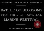 Image of Sea Battle of Flowers Villefranche France, 1930, second 8 stock footage video 65675035097