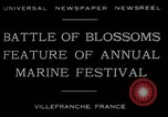 Image of Sea Battle of Flowers Villefranche France, 1930, second 9 stock footage video 65675035097