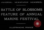 Image of Sea Battle of Flowers Villefranche France, 1930, second 10 stock footage video 65675035097