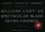 Image of dock fire New Orleans Louisiana USA, 1930, second 9 stock footage video 65675035098