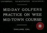 Image of miniature golf course Oakland California USA, 1930, second 1 stock footage video 65675035099