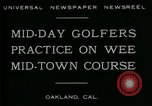 Image of miniature golf course Oakland California USA, 1930, second 2 stock footage video 65675035099