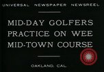 Image of miniature golf course Oakland California USA, 1930, second 3 stock footage video 65675035099