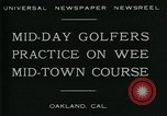 Image of miniature golf course Oakland California USA, 1930, second 4 stock footage video 65675035099