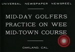 Image of miniature golf course Oakland California USA, 1930, second 6 stock footage video 65675035099