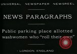 Image of British women washing laundry London England United Kingdom, 1930, second 4 stock footage video 65675035100
