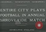 Image of Shrovetide football match Ashbourne England United Kingdom, 1930, second 1 stock footage video 65675035105