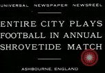 Image of Shrovetide football match Ashbourne England United Kingdom, 1930, second 2 stock footage video 65675035105