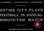 Image of Shrovetide football match Ashbourne England United Kingdom, 1930, second 8 stock footage video 65675035105