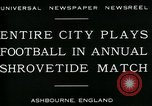 Image of Shrovetide football match Ashbourne England United Kingdom, 1930, second 9 stock footage video 65675035105
