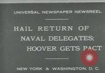 Image of Stimson delivers London Naval Treaty New York United States USA, 1930, second 1 stock footage video 65675035106