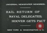 Image of Stimson delivers London Naval Treaty New York United States USA, 1930, second 2 stock footage video 65675035106