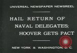 Image of Stimson delivers London Naval Treaty New York United States USA, 1930, second 3 stock footage video 65675035106