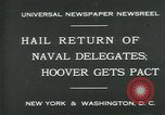 Image of Stimson delivers London Naval Treaty New York United States USA, 1930, second 4 stock footage video 65675035106