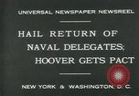 Image of Stimson delivers London Naval Treaty New York United States USA, 1930, second 5 stock footage video 65675035106
