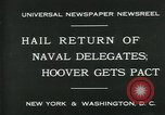 Image of Stimson delivers London Naval Treaty New York United States USA, 1930, second 6 stock footage video 65675035106