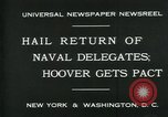 Image of Stimson delivers London Naval Treaty New York United States USA, 1930, second 7 stock footage video 65675035106