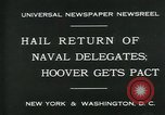 Image of Stimson delivers London Naval Treaty New York United States USA, 1930, second 8 stock footage video 65675035106