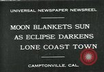 Image of eclipse Camptonville California USA, 1930, second 1 stock footage video 65675035107