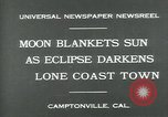 Image of eclipse Camptonville California USA, 1930, second 3 stock footage video 65675035107