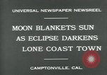 Image of eclipse Camptonville California USA, 1930, second 4 stock footage video 65675035107