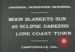 Image of eclipse Camptonville California USA, 1930, second 7 stock footage video 65675035107