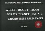 Image of rugby match Paris France, 1930, second 2 stock footage video 65675035112