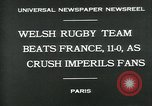 Image of rugby match Paris France, 1930, second 3 stock footage video 65675035112
