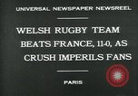 Image of rugby match Paris France, 1930, second 4 stock footage video 65675035112
