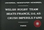 Image of rugby match Paris France, 1930, second 5 stock footage video 65675035112