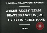 Image of rugby match Paris France, 1930, second 6 stock footage video 65675035112