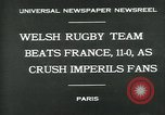 Image of rugby match Paris France, 1930, second 7 stock footage video 65675035112