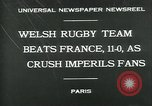 Image of rugby match Paris France, 1930, second 8 stock footage video 65675035112
