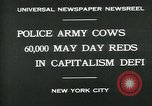 Image of Pro socialist May Day 1930 parade in New York New York City USA, 1930, second 2 stock footage video 65675035113