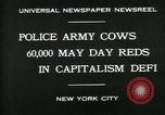 Image of Pro socialist May Day 1930 parade in New York New York City USA, 1930, second 7 stock footage video 65675035113