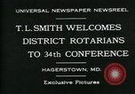 Image of T L Smith Hagerstown Maryland USA, 1930, second 2 stock footage video 65675035114