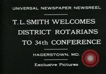 Image of T L Smith Hagerstown Maryland USA, 1930, second 3 stock footage video 65675035114