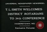 Image of T L Smith Hagerstown Maryland USA, 1930, second 4 stock footage video 65675035114