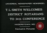 Image of T L Smith Hagerstown Maryland USA, 1930, second 6 stock footage video 65675035114