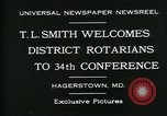 Image of T L Smith Hagerstown Maryland USA, 1930, second 7 stock footage video 65675035114