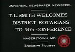 Image of T L Smith Hagerstown Maryland USA, 1930, second 8 stock footage video 65675035114