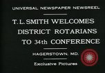 Image of T L Smith Hagerstown Maryland USA, 1930, second 9 stock footage video 65675035114