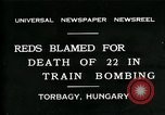 Image of train accident Torbagy Hungary, 1931, second 1 stock footage video 65675035116